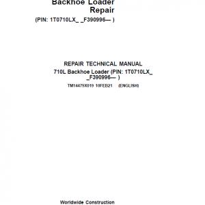 John Deere 710L Backhoe Loader Repair Service Manual (S.N after F390996 -)