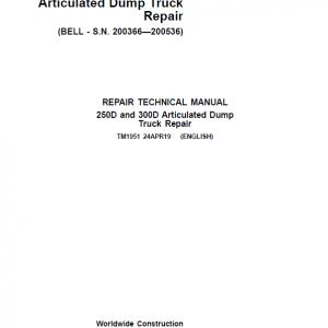 John Deere 250D, 300D Dump Truck Service Manual (BELL - S.N. 200366—200536)