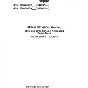 John Deere 250D, 300D Series 2 Dump Truck Service Manual (S.N. after C642001 - )