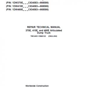 John Deere 370E, 410E, 460E Dump Truck Service Manual (S.N. C634583 - C668586 )