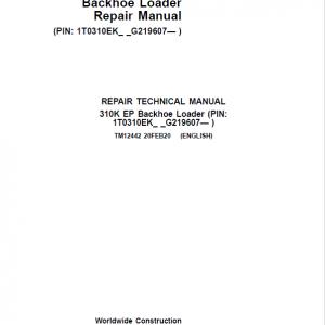 John Deere 310K EP Backhoe Loader Repair Service Manual (S.N after G219607 - )