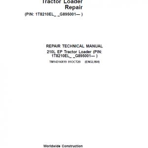 John Deere 210L EP Tractor Loader Repair Service Manual (S.N after G895001 - )