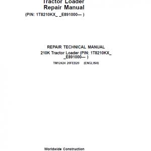 John Deere 210K Tractor Loader Repair Service Manual (S.N after E891000 -)