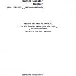 John Deere 210L EP Tractor Loader Repair Service Manual (S.N J892600 – 895000)