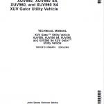 John Deere XUV550, XUV550 S4, XUV560, XUV560 S4 Gator Utility Vehicles Repair Manual