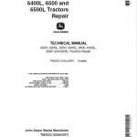 John Deere 6200, 6200L, 6300, 6300L Tractor Repair Service Manual