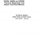 John Deere 5320N, 5420N, 5520N Tractor Repair Service Manual