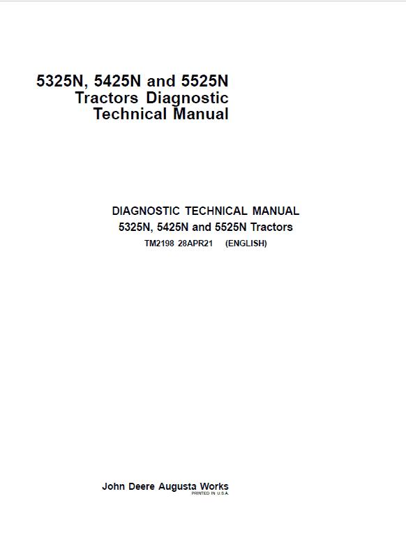 John Deere 5325N, 5425N, 5525N Tractors Repair Service Manual