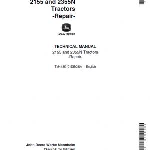 John Deere 2155, 2355N Tractors Repair Service Manual