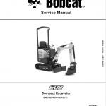 Bobcat E08 Excavator Repair Service Manual