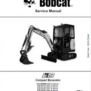 Bobcat E19 Excavator Repair Service Manual