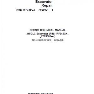 John Deere 345GLC Excavator Repair Service Manual (S.N after F020001 - )