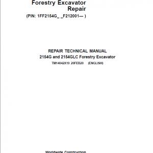 John Deere 2154G, 2154GLC Swing Excavator Repair Service Manual (S.N after F212001 - )