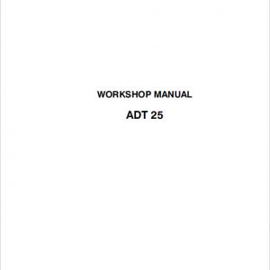 Astra ADT25 Dump Truck Repair Service Manual