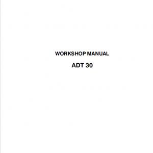 Astra ADT30 Dump Truck Repair Service Manual
