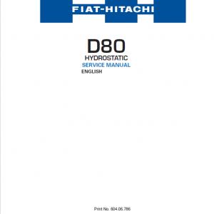 Fiat Hitachi D80 Crawler Dozer Repair Service Manual